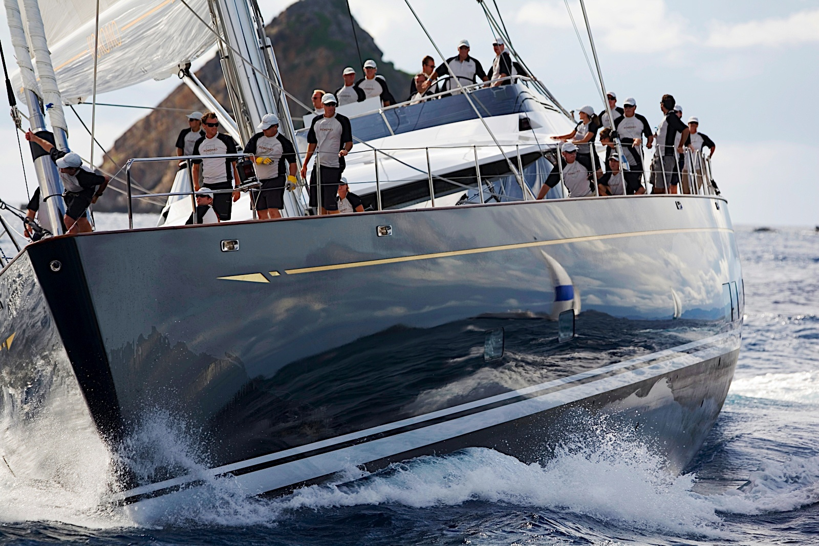 Sailing Yacht kokomo at the St Barts Bucket Regatta